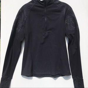 LULULEMON 1/2 zip embroidered shirt 8 top long